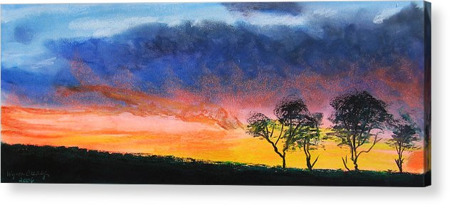 Sunset Acrylic Print featuring the painting Dancing On Sundays by Wynn Creasy