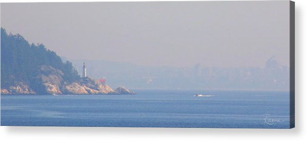 Fog Acrylic Print featuring the photograph Point Atkinson Haze by Rasma Bertz