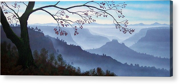 Mural Acrylic Print featuring the painting Butte Creek Canyon Mural by Frank Wilson