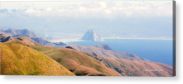 Big Sur Acrylic Print featuring the photograph Morro Bay Rock Vista Overlooking Highway 46 Paso Robles California by Artist and Photographer Laura Wrede