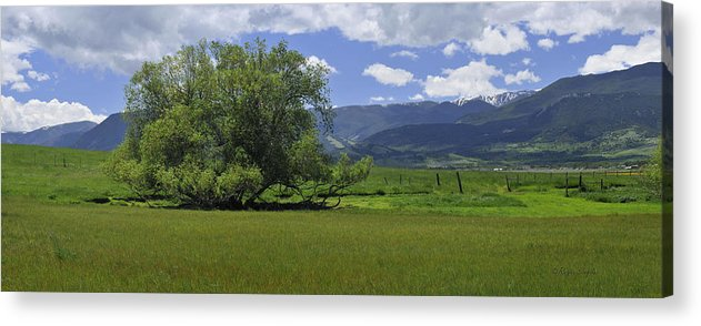 Beautiful Acrylic Print featuring the photograph Red Lodge Spring Scene Panorama 3 by Roger Snyder