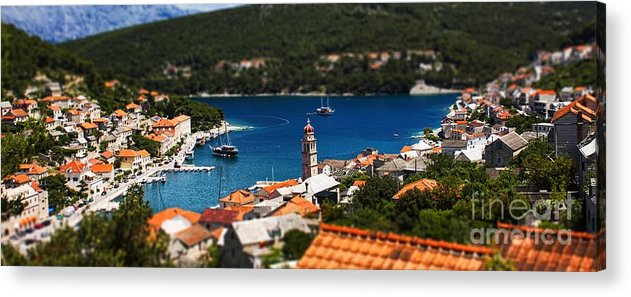 Rooftop Acrylic Print featuring the photograph Tiny Inlet by Andrew Paranavitana