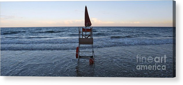 Italy Acrylic Print featuring the photograph Alassio Sunset Facing East by Andy Prendy
