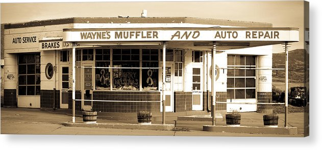 Americana Acrylic Print featuring the photograph Art Deco Gas Station Americana by Marilyn Hunt