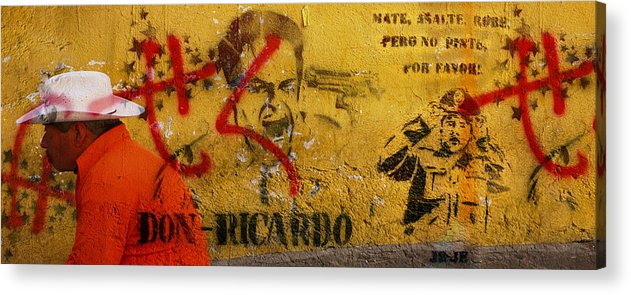 Grafitti Acrylic Print featuring the photograph Don-ricardo by Skip Hunt