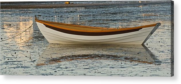 Dory Acrylic Print featuring the photograph Dory At Low Tide by Gene Sizemore
