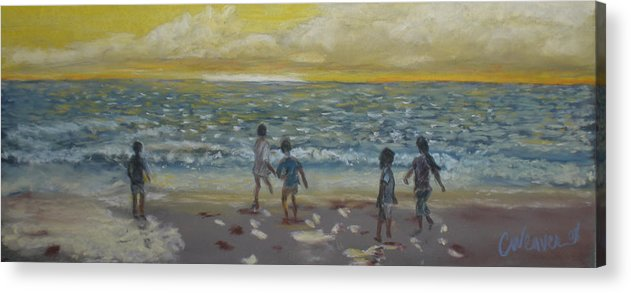 Landscape Acrylic Print featuring the painting End Of Summer by Cathy Weaver