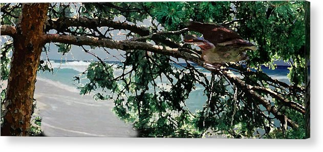 Landscape Acrylic Print featuring the painting Stealth by Steve Karol