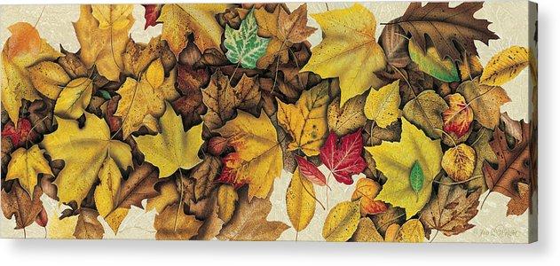 Jon Q Wright Acrylic Print featuring the painting Autumn Splendor by JQ Licensing