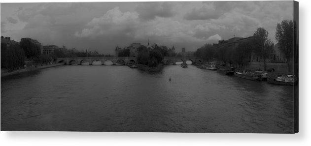 Paris Acrylic Print featuring the photograph La Seine Dh 3 by Wessel Woortman