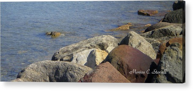 Shoreline Acrylic Print featuring the photograph Landscapes L215 by Monica C Stovall