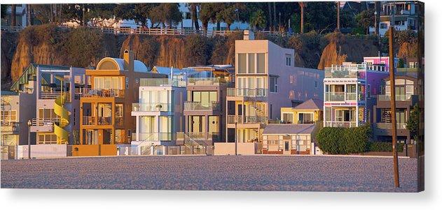Santa Monica Acrylic Print featuring the photograph At Home On Santa Monica Beach by Mark Andrew Thomas