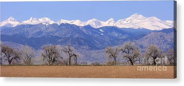 Boulder Acrylic Print featuring the photograph Boulder County Colorado Panorama by James BO Insogna