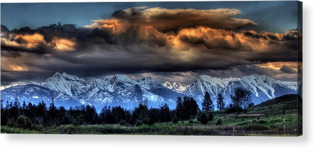 Evening Acrylic Print featuring the photograph Fantasy Evening by Katie LaSalle-Lowery