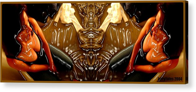 Rorschach Acrylic Print featuring the photograph Rorschach Test by Gerard Yates