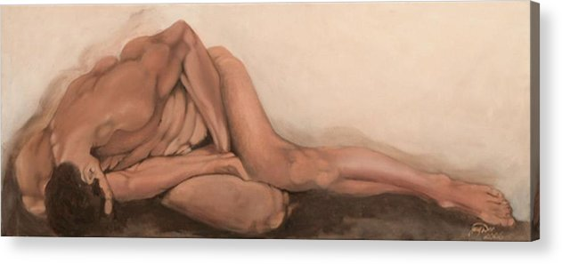 Figurative Acrylic Print featuring the painting Sleep by Jane Simpson
