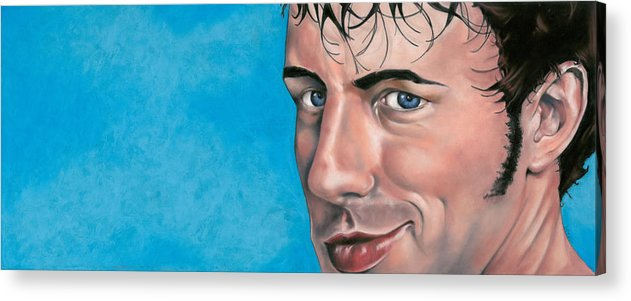 Pastel Acrylic Print featuring the pastel Smirk by Greg Stair