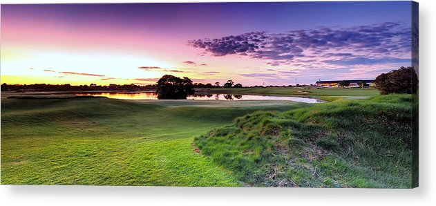 Panorama Acrylic Print featuring the photograph The Country Club by Mark Lucey