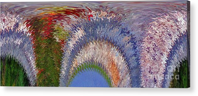 Computer Graphics Acrylic Print featuring the photograph Abstract Arches by Marian Bell
