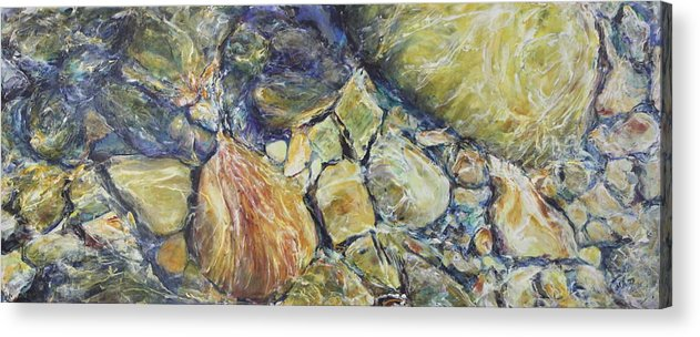 River Rocks Acrylic Print featuring the painting Margot's Lux by Madeleine Arnett