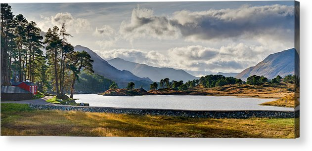 Caledonian Forest Acrylic Print featuring the photograph Glen Affric Panorama I by Gary Eason