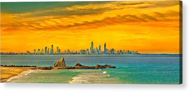 Gold Coast Acrylic Print featuring the photograph City Of Gold by Az Jackson