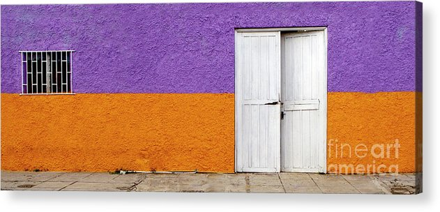 Purple Acrylic Print featuring the photograph Colorful In Negril by Glennis Siverson