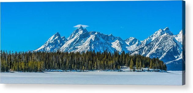 Mountains Acrylic Print featuring the photograph Early Spring In The Tetons by Yeates Photography