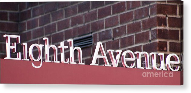 Colorado Springs Acrylic Print featuring the photograph Eighth Avenue Sign New York by Robert Gaines