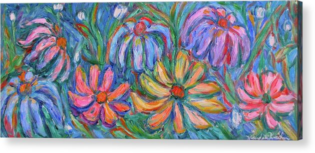 Flowers Acrylic Print featuring the painting Imaginary Flowers by Kendall Kessler