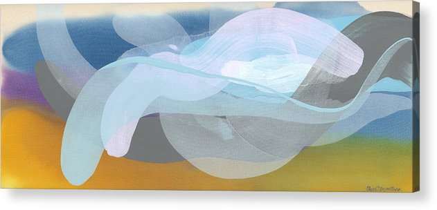 Abstract Acrylic Print featuring the painting Sleep In Past 8 by Claire Desjardins