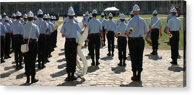 France Acrylic Print featuring the photograph French Military Band by A Morddel