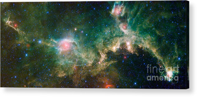Science Acrylic Print featuring the photograph Ic 2177-seagull Nebula by Science Source