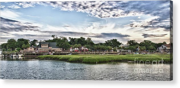Murrells Inlet Sunrise Acrylic Print featuring the photograph Murrells Inlet Marsh Walk by Mike Covington