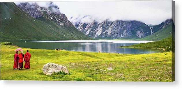 Chinese Culture Acrylic Print featuring the photograph Nianbaoyuze National Geopark, Qinghai by Feng Wei Photography