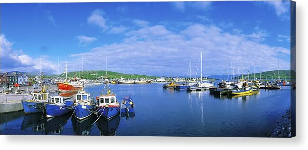 Atlantic Ocean Acrylic Print featuring the photograph Dingle Town & Harbour, Co Kerry, Ireland by The Irish Image Collection
