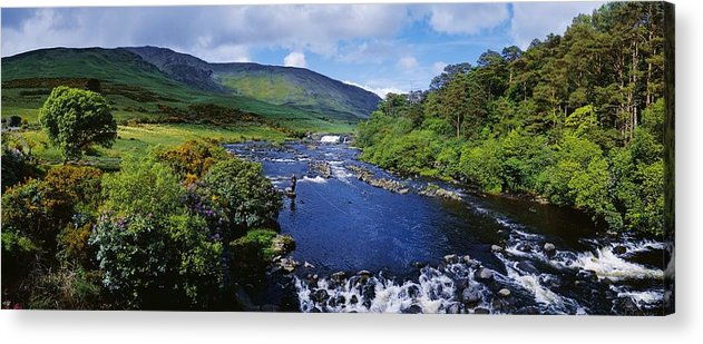 Cloud Acrylic Print featuring the photograph High Angle View Of A Waterfall by The Irish Image Collection