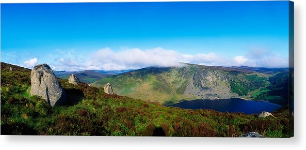 Barren Acrylic Print featuring the photograph Luggala And Lough Tay, Co Wicklow by The Irish Image Collection