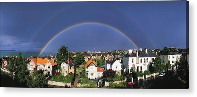 Building Acrylic Print featuring the photograph Monkstown, Co Dublin, Ireland Rainbow by The Irish Image Collection
