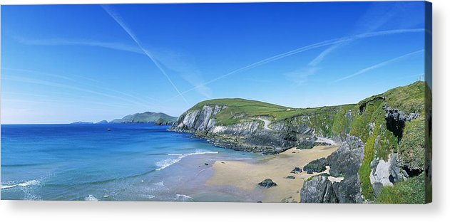 Blasket Islands Acrylic Print featuring the photograph Rocks On The Beach, Coumeenoole Beach by The Irish Image Collection