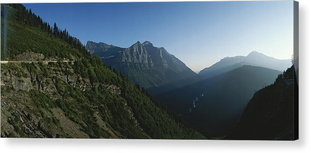 North America Acrylic Print featuring the photograph Scenic Overlook In Glacier National by Michael S. Lewis