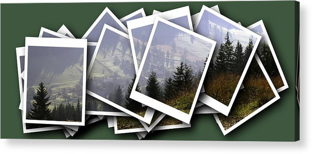 Abode Acrylic Print featuring the digital art Transylvania Landscape by Odon Czintos