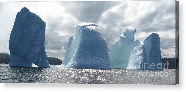 Iceberg Photograph Ice Water Ocean Altantic Newfoundland Summer Acrylic Print featuring the photograph Iceberg by Seon-Jeong Kim