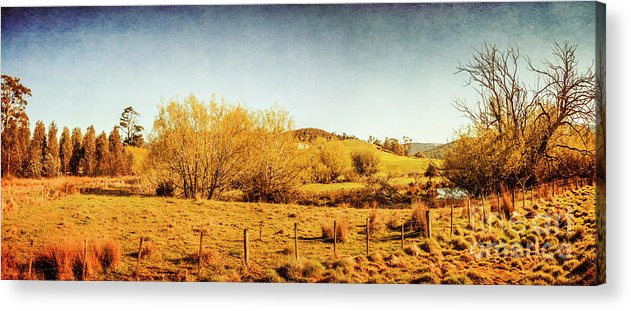 Panoramic Acrylic Print featuring the photograph Antique Weathered Countryside by Jorgo Photography - Wall Art Gallery