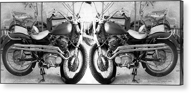 Motor Cycle Acrylic Print featuring the photograph Confrontation With Death by Gerard Yates