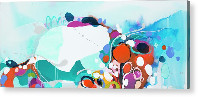 Abstract Acrylic Print featuring the painting New Ways by Claire Desjardins