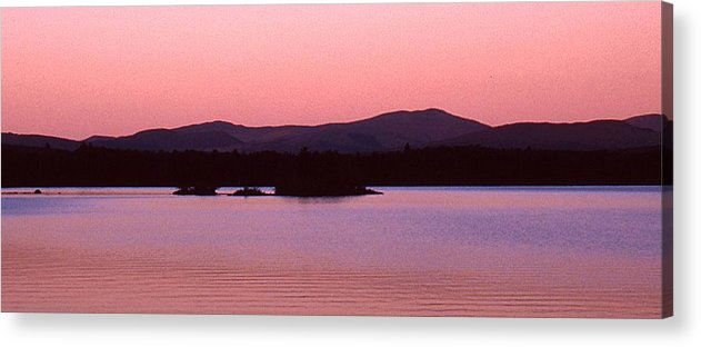 Panorama Acrylic Print featuring the photograph Panorama-predawn Lake Umbagog by Roger Soule
