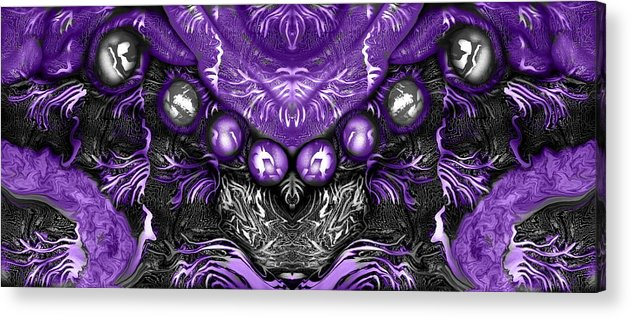 Purple Acrylic Print featuring the digital art Branched Within by Joyce Rogers