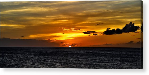 Sunset Acrylic Print featuring the photograph Watching The Sun Set In Barbados by Craig Bowman