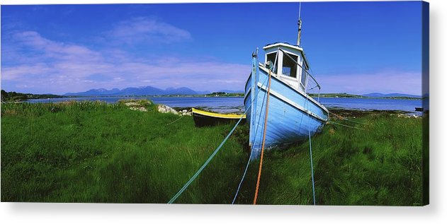 Co Galway Acrylic Print featuring the photograph Connemara, Co Galway, Ireland Fishing by The Irish Image Collection